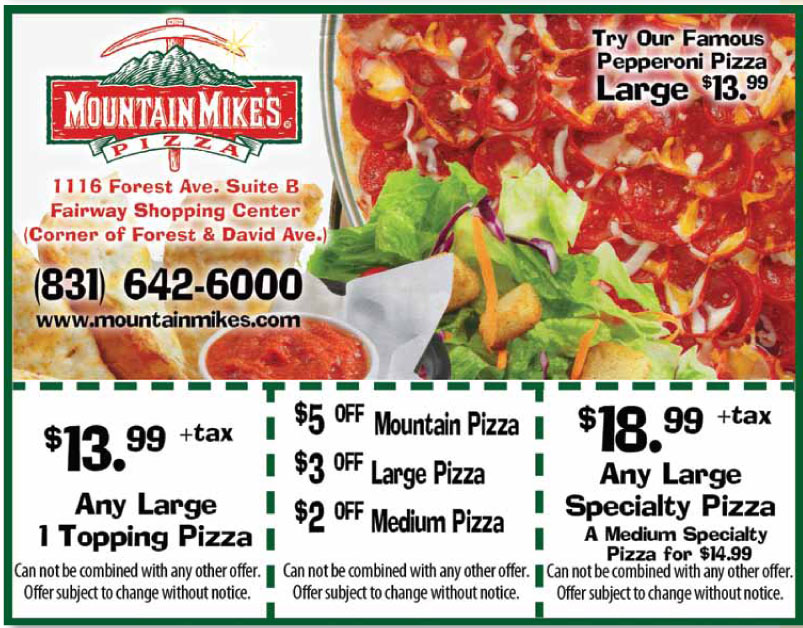 Mountain mike's pizza coupon code