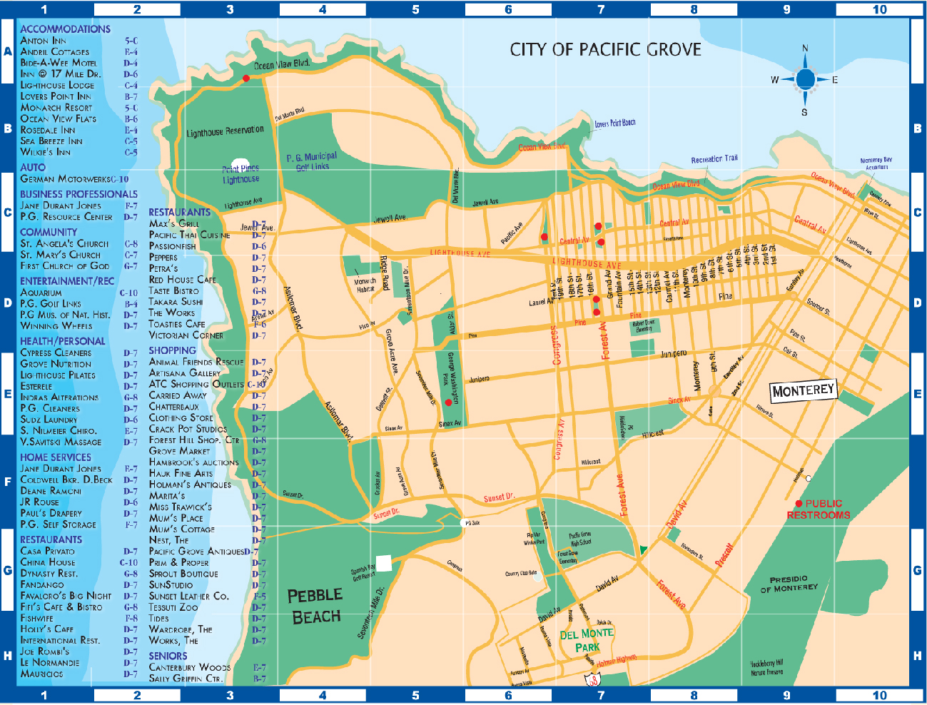 Pacific Grove Map